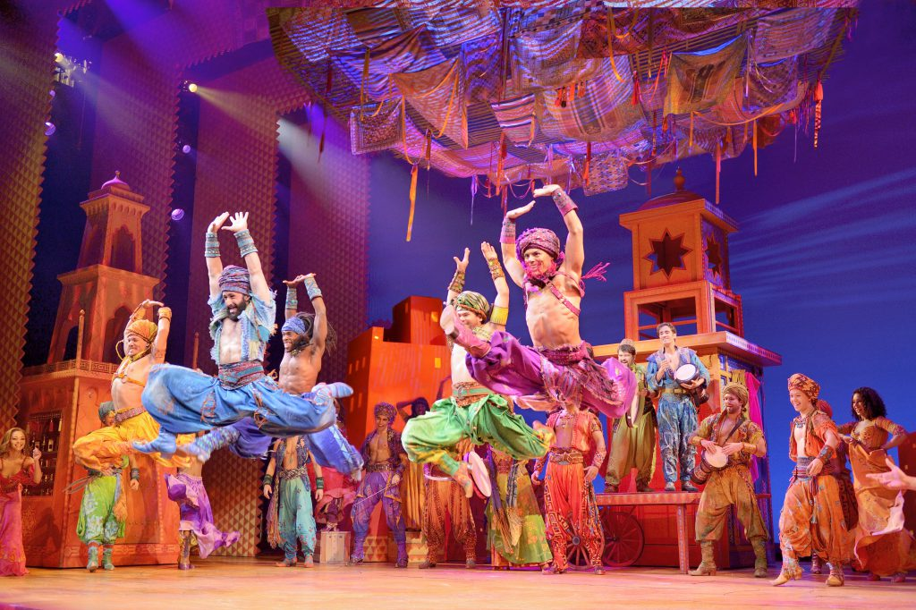 Company of Disney's ALADDIN presented by Broadway On Tour at the Sacramento Community Center Theater May 15 – Jun. 2, 2019. ©Disney. Photo by Deen van Meer.