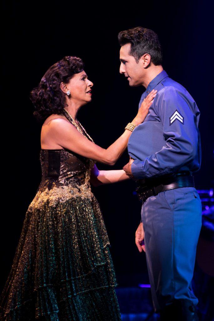 Nancy Ticotin as Gloria Fajardo and Jason Martinez as José Fajardo in the Broadway On Tour presentation of ON YOUR FEET! Oct. 30 – Nov. 4, 2018 at the Sacramento Community Center Theater. Photo by Matthew Murphy.