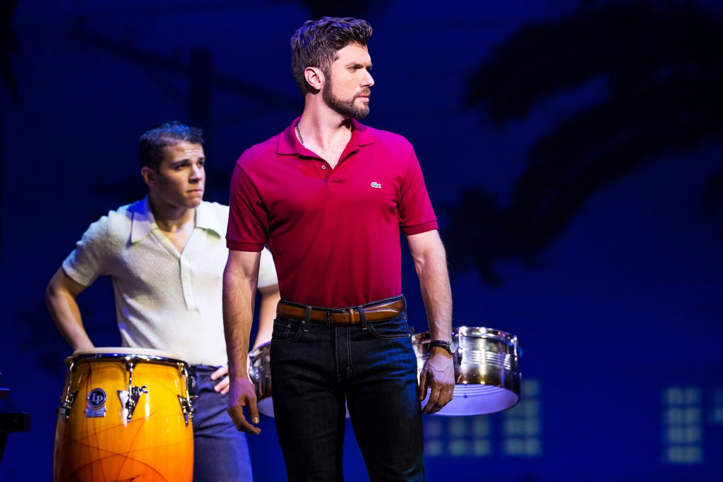 Adriel Flete and Mauricio Martinez as Emilio Estefan in the Broadway On Tour presentation of ON YOUR FEET! Oct. 30 – Nov. 4, 2018 at the Sacramento Community Center Theater. Photo by Matthew Murphy.