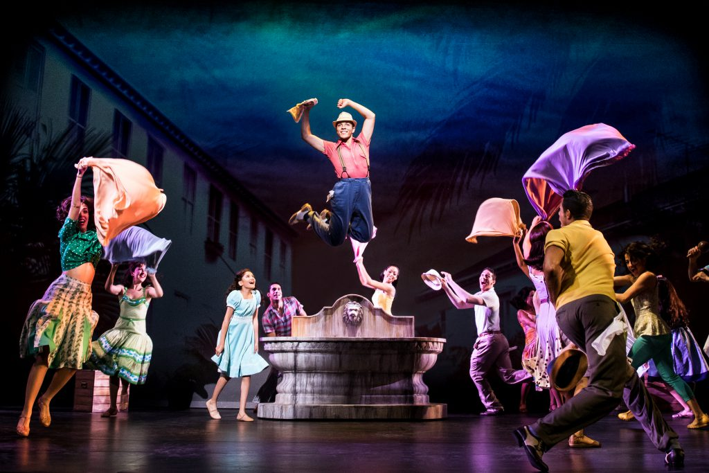 Adriel Flete and company in the Broadway On Tour presentation of ON YOUR FEET! Oct. 30 – Nov. 4, 2018 at the Sacramento Community Center Theater. Photo by Matthew Murphy.
