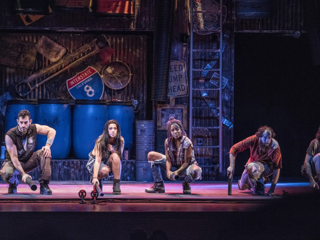 Company of STOMP created by Luke Cresswell and Steve McNicholas presented by Broadway On Tour at the Sacramento Community Center Theater Feb. 1 – 10, 2019. © Steve McNicholas.