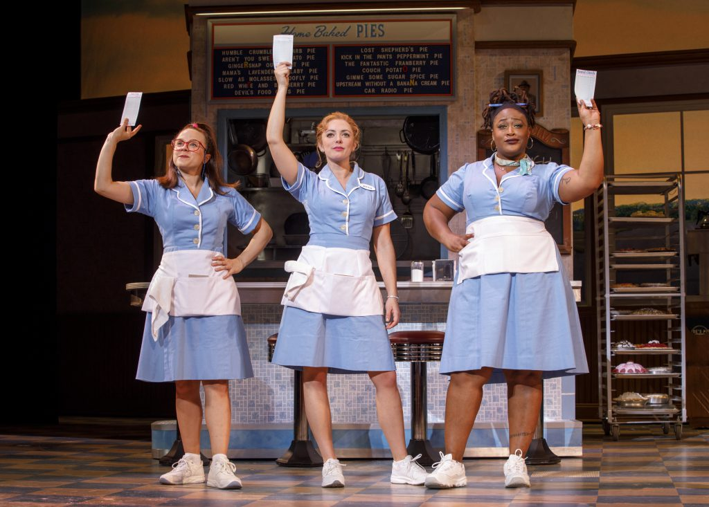 Lenne Klingaman, Desi Oakley and Charity Angel Dawson in the Broadway On Tour presentation of WAITRESS at the Sacramento Community Center Theater Dec. 27, 2018 – Jan. 5, 2019. Photo by Joan Marcus.