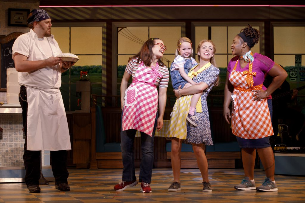 Ryan G. Dunkin and the company of the Broadway On Tour presentation of WAITRESS at the Sacramento Community Center Theater Dec. 27, 2018 – Jan. 5, 2019. Photo by Joan Marcus.