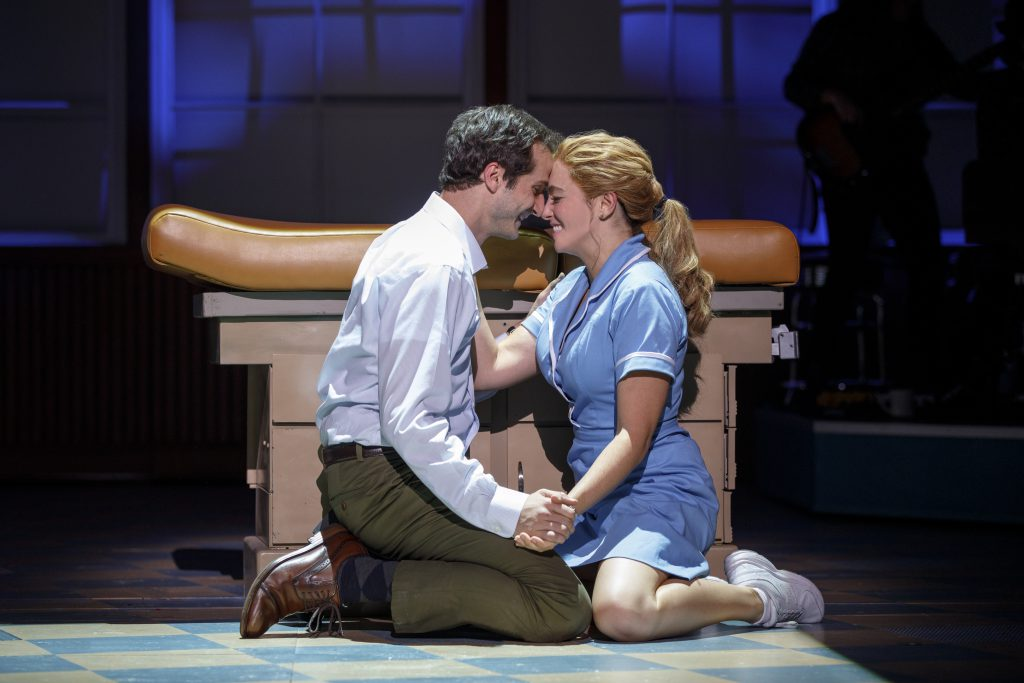Bryan Fenkart and Desi Oakley in the Broadway On Tour presentation of WAITRESS at the Sacramento Community Center Theater Dec. 27, 2018 – Jan. 5, 2019. Photo by Joan Marcus.