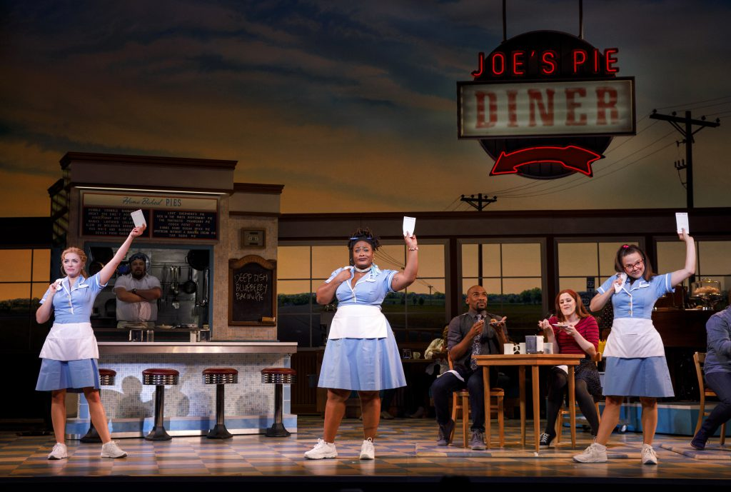 Desi Oakley, Charity Angel Dawson and Lenne Klingaman in the Broadway On Tour presentation of WAITRESS at the Sacramento Community Center Theater Dec. 27, 2018 – Jan. 5, 2019. Photo by Joan Marcus.