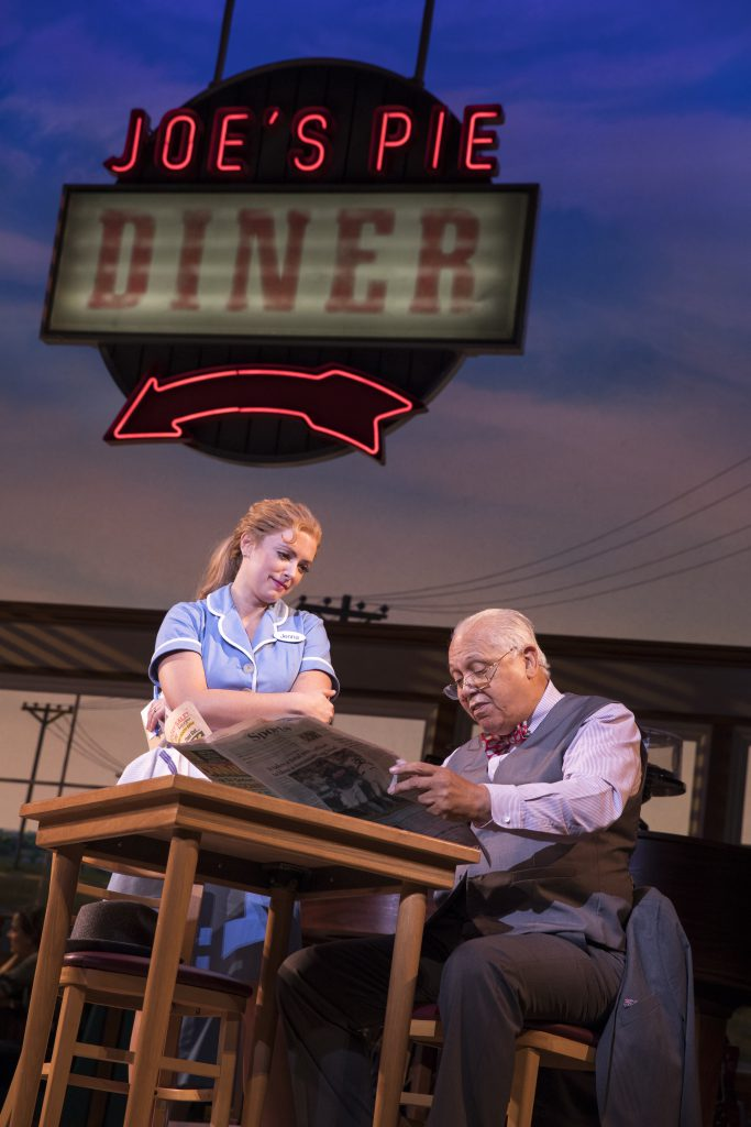 Desi Oakley and Larry Marshall in the Broadway On Tour presentation of WAITRESS at the Sacramento Community Center Theater Dec. 27, 2018 – Jan. 5, 2019. Photo by Joan Marcus.