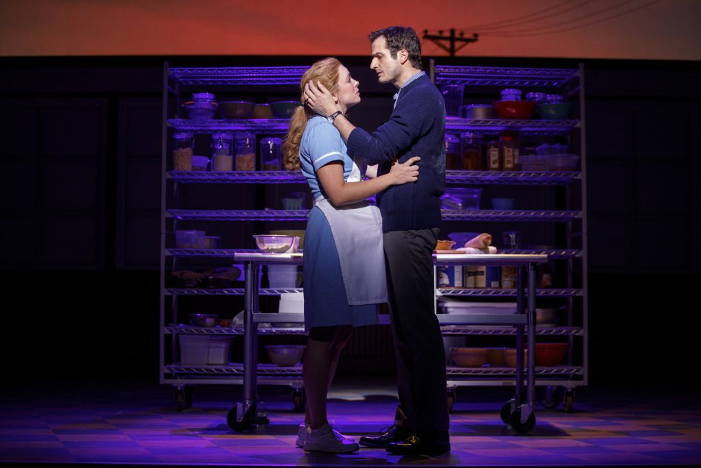Desi Oakley and Bryan Fenkart in the Broadway On Tour presentation of WAITRESS at the Sacramento Community Center Theater Dec. 27, 2018 – Jan. 5, 2019. Photo by Joan Marcus.