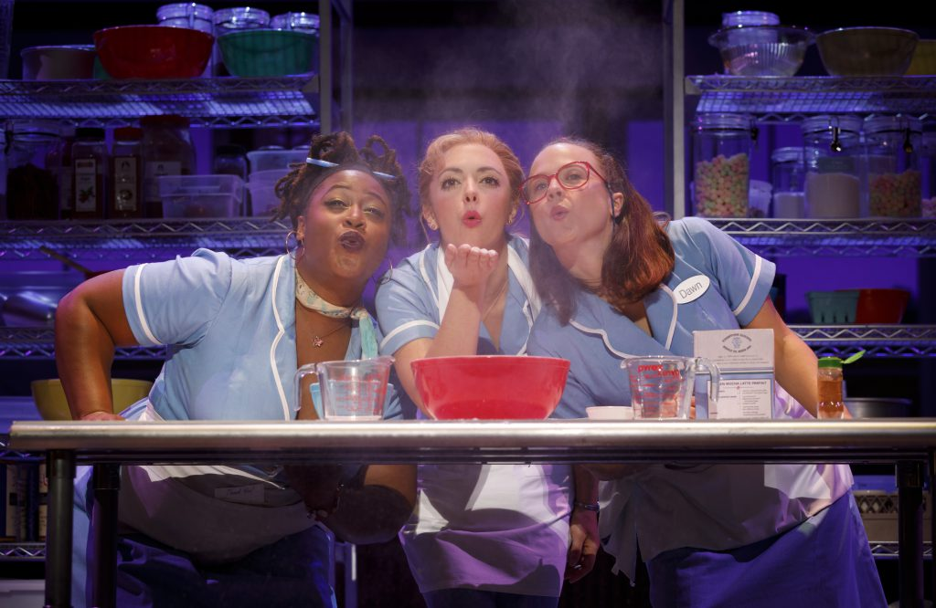 Charity Angel Dawson, Desi Oakley and Lenne Klingaman in the Broadway On Tour presentation of WAITRESS at the Sacramento Community Center Theater Dec. 27, 2018 – Jan. 5, 2019. Photo by Joan Marcus.