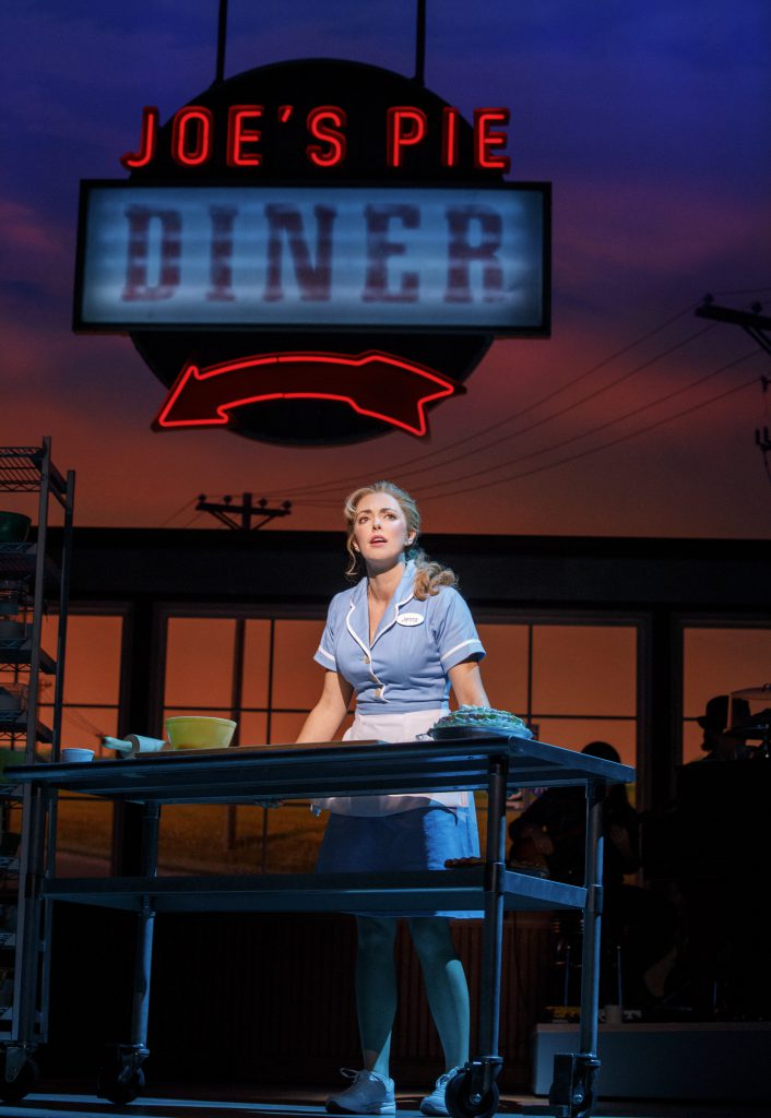Desi Oakley as Jenna in the Broadway On Tour presentation of WAITRESS at the Sacramento Community Center Theater Dec. 27, 2018 – Jan. 5, 2019. Photo by Joan Marcus.