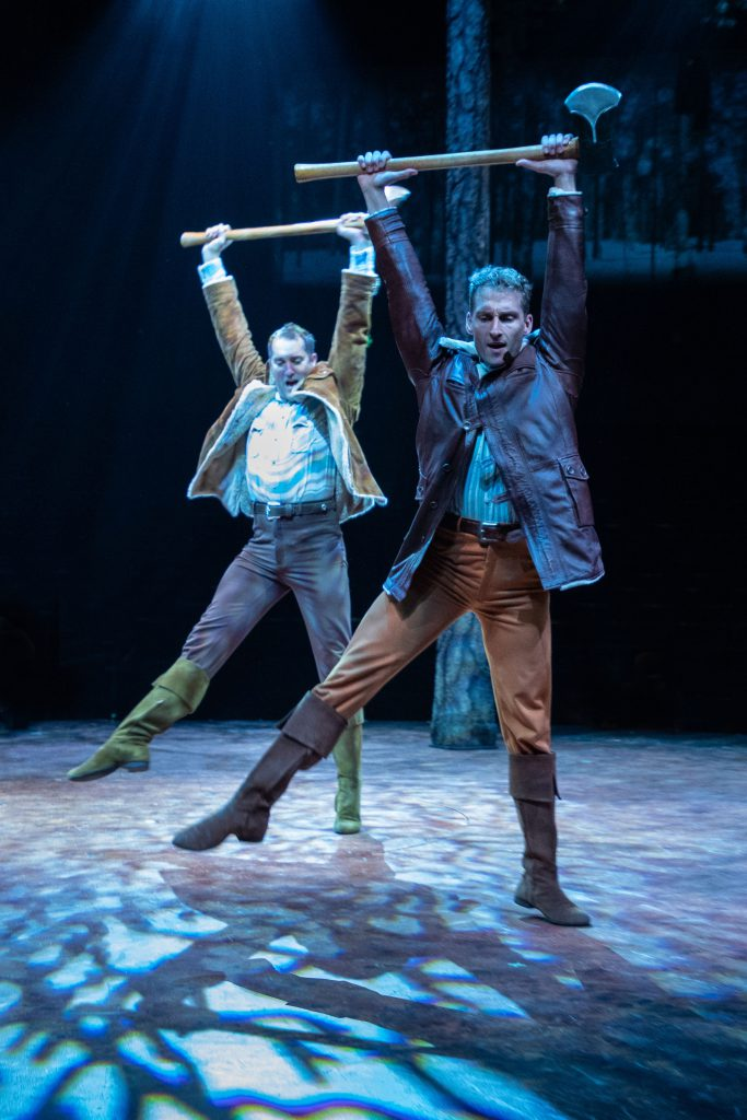 (from L to R) Eric Stretch as Benjamin Pontipee and Brain Steven Shaw as Daniel Pontipee in SEVEN BR