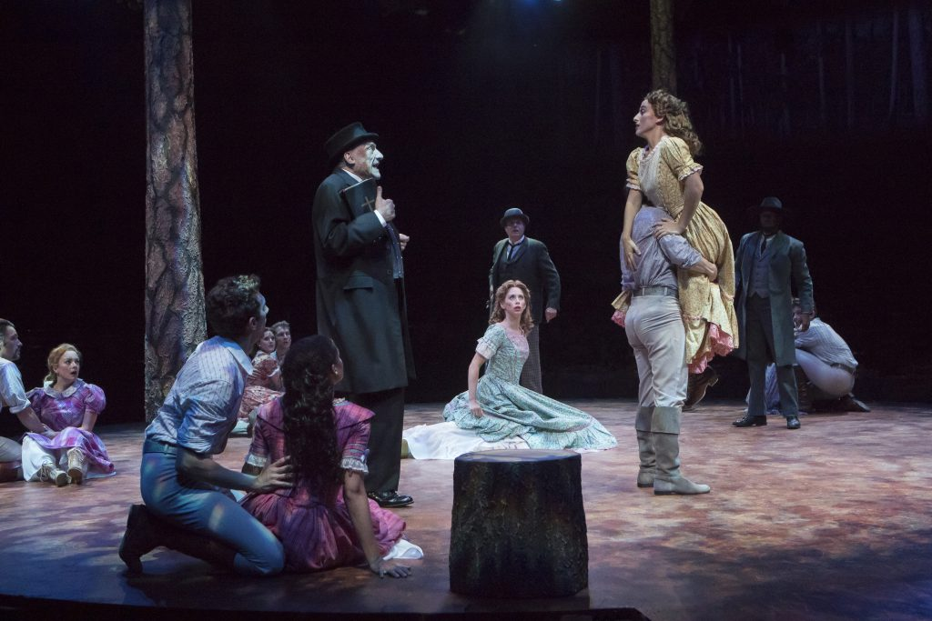 Company of SEVEN BRIDES FOR SEVEN BROTHERS, produced by Broadway At Music Circus at the Wells Fargo