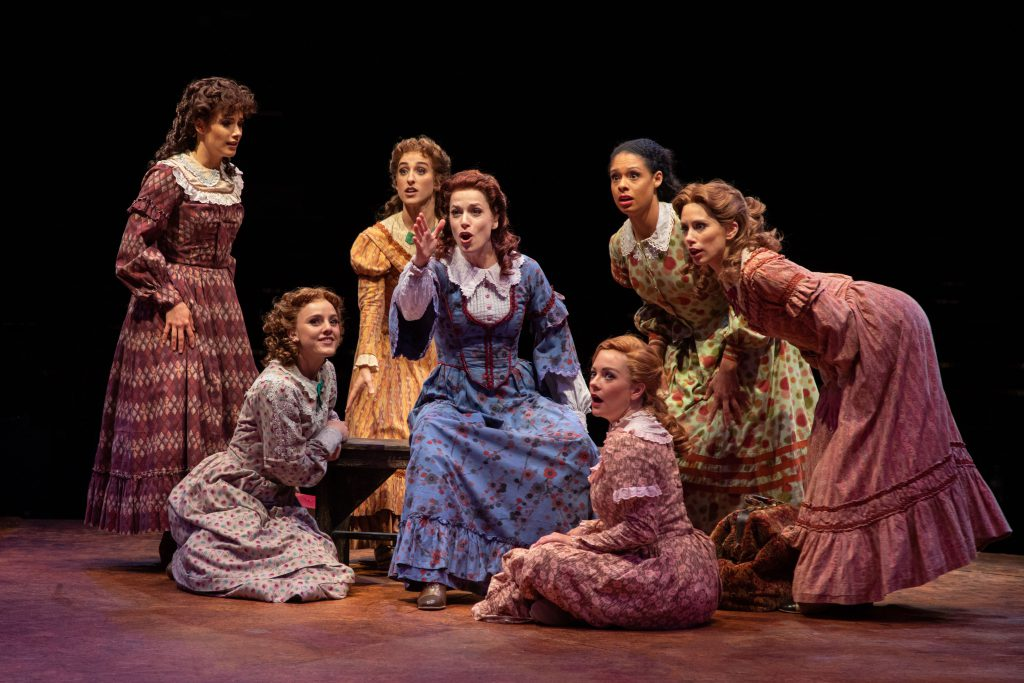 (from L to R) Elyse Niederee as Martha, Jamie Pfaff as Liza, Rose Iannaccone as Alice, Paige Faure a
