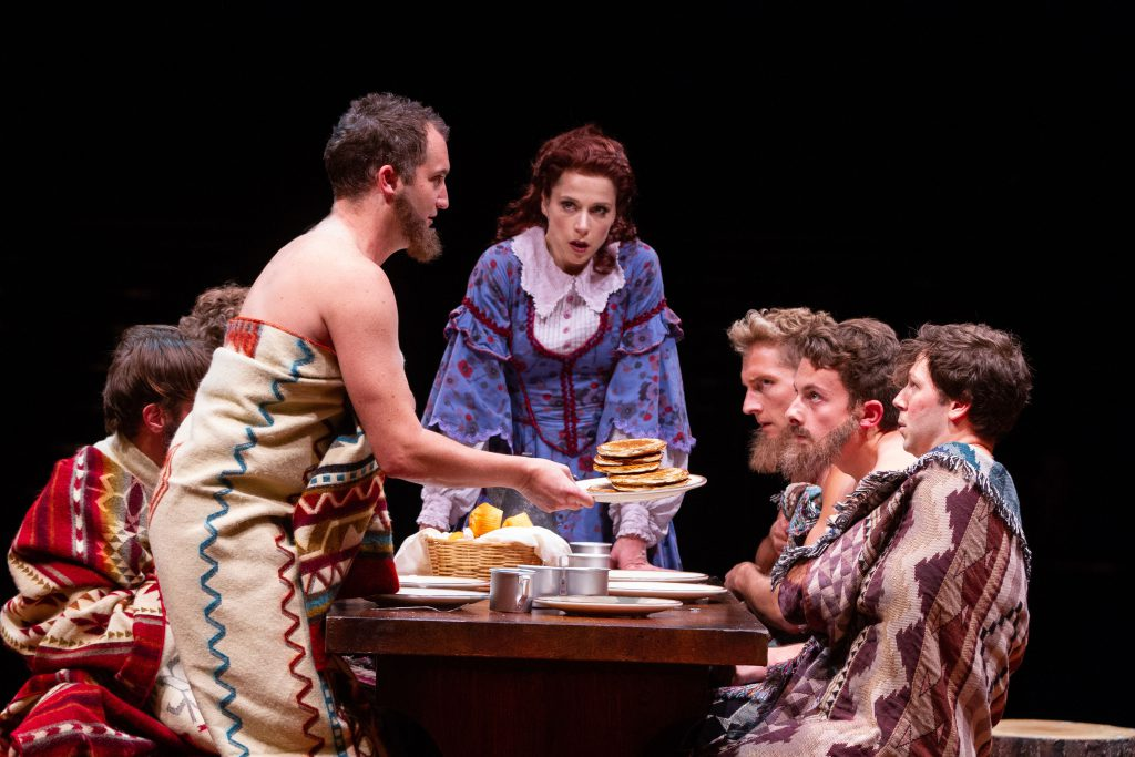 (from L to R) Eric Stretch as Benjamin Pontipee, Paige Faure as Milly, Brian Steven Shaw as Daniel P