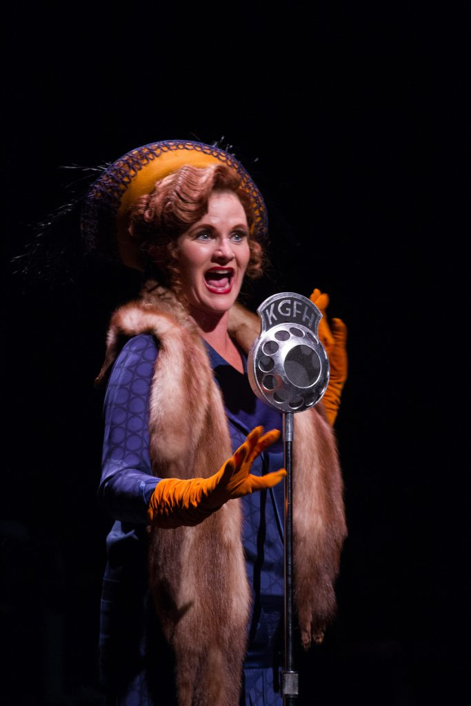 Diane Vincent as Dora Bailey in SINGIN' IN THE RAIN, produced by Broadway At Music Circus at the Wel