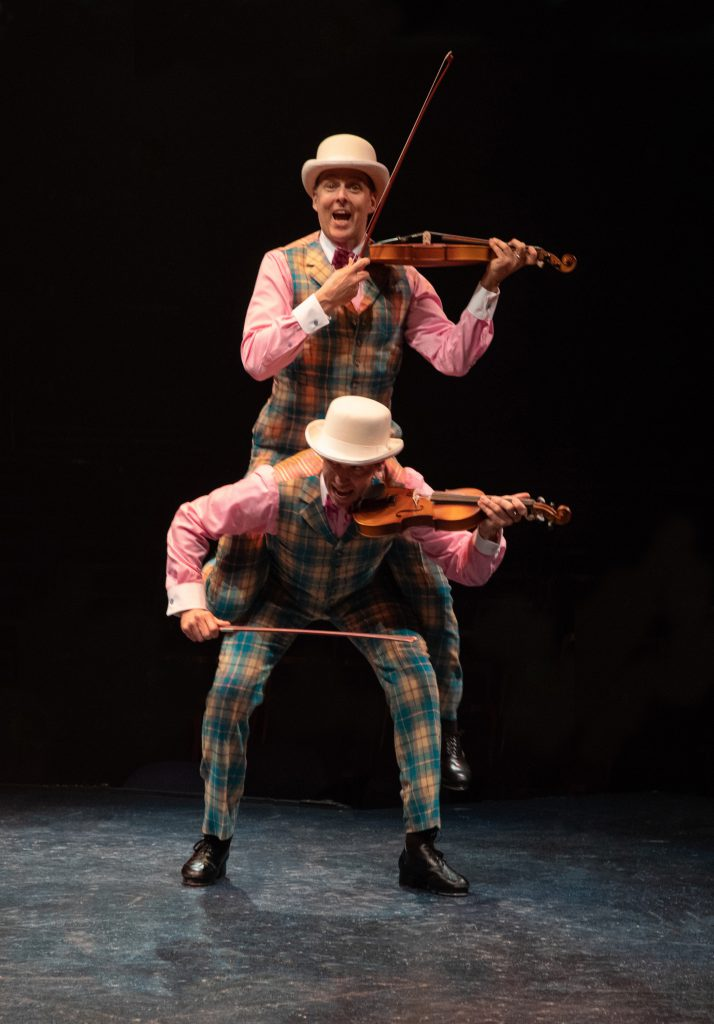(from top to bottom) Noah Racey as Don Lockwood and Matt Loehr as Cosmo Brown in SINGIN' IN THE RAIN