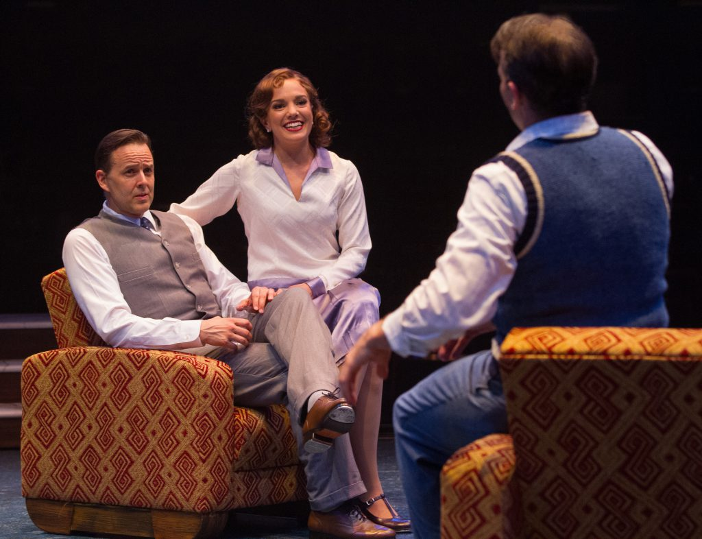 (from L to R) Noah Racey as Don Lockwood, Kara Lindsay as Kathy Selden and Matt Loehr as Cosmo Brown