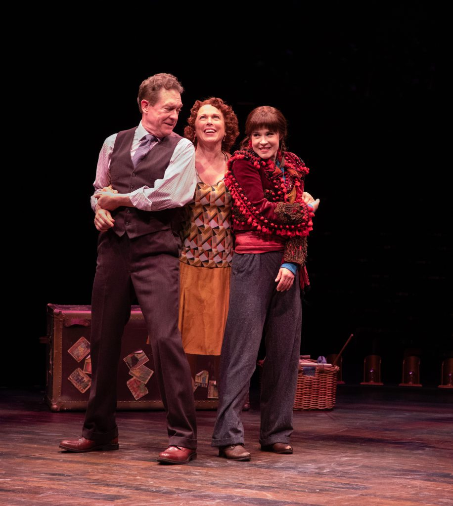 (from L to R) David Hess as Herbie, Carolee Carmello as Rose and Austen Danielle Bohmer as Louise in