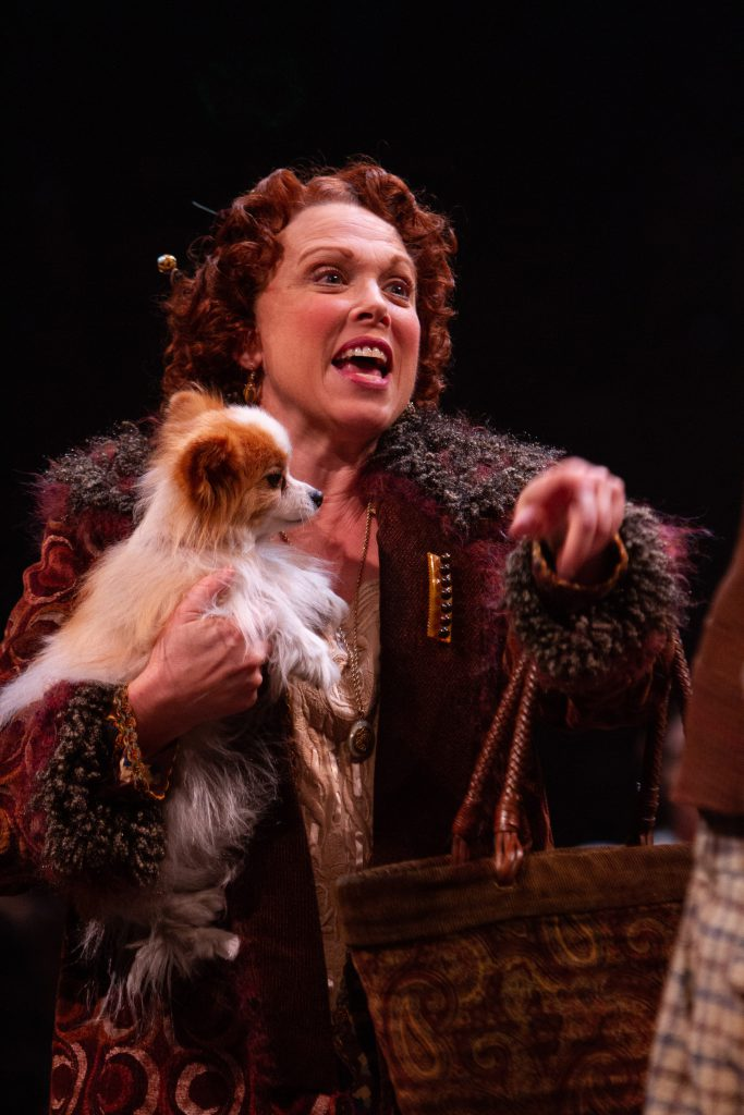 "Carolee Carmello as Rose with Bloomingdales ""Bloomie"" Arcement as Chowsie in GYPSY, produced by Broa"