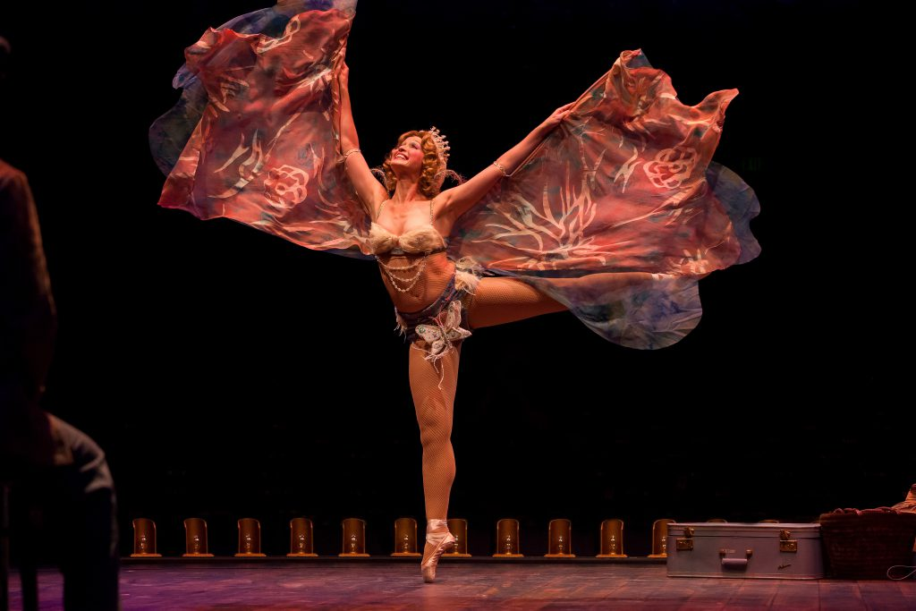 Amy Bodnar as Tessie Tura in GYPSY, produced by Broadway At Music Circus at the Wells Fargo Pavilion