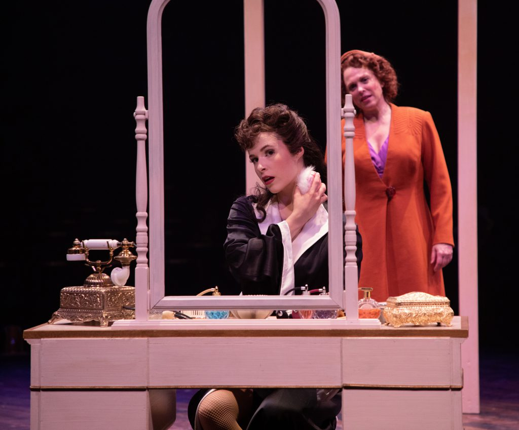 (from L to R) Austen Danielle Bohmer as Louise and Carolee Carmello as Rose in GYPSY, produced by Br