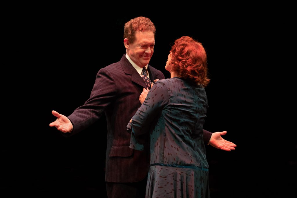 David Hess as Herbie and Carolee Carmello as Rose in GYPSY, produced by Broadway At Music Circus at
