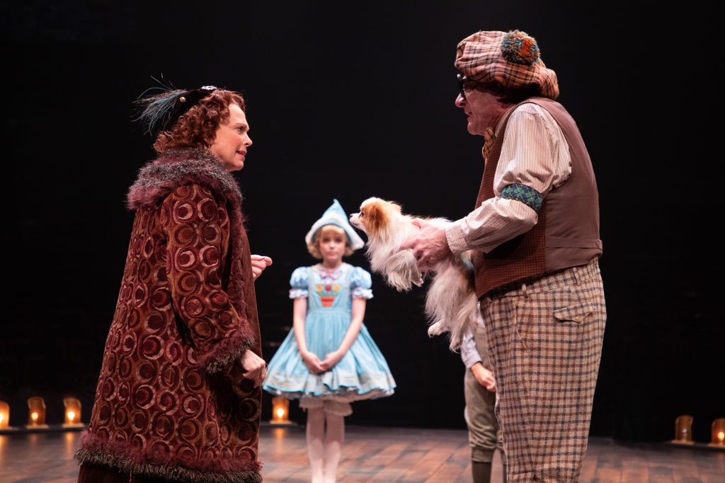 (from L to R) Carolee Carmello as Rose, Kylie Standley as Baby June and Ron Wisniski as Uncle Jocko