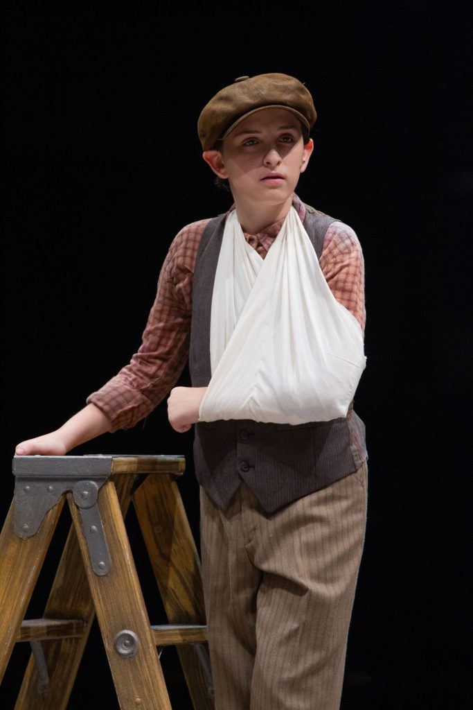 Josh Davis as Les in DISNEY'S NEWSIES, produced by Broadway At Music Circus at the Wells Fargo Pavil