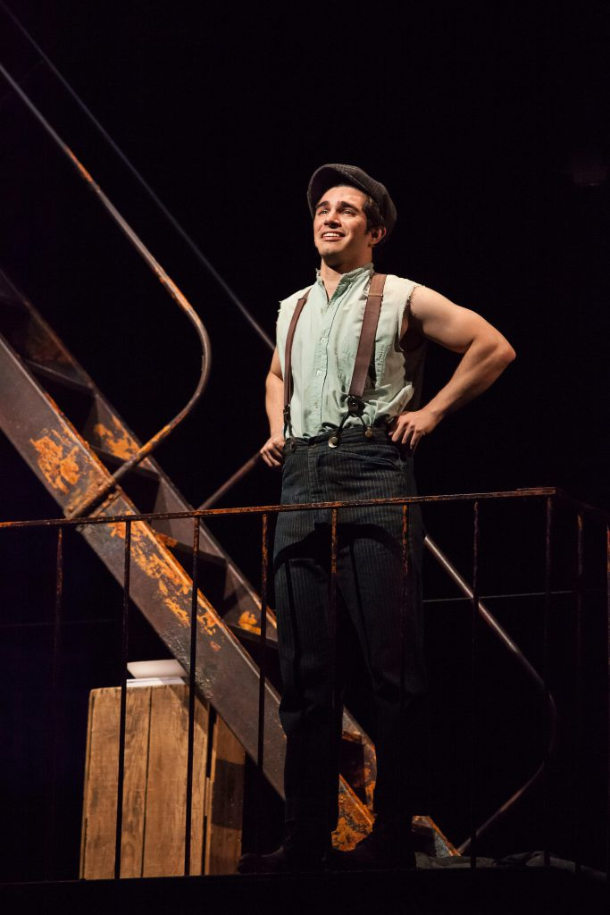 Joey Barreiro as Jack Kelly in DISNEY'S NEWSIES, produced by Broadway At Music Circus at the Wells F