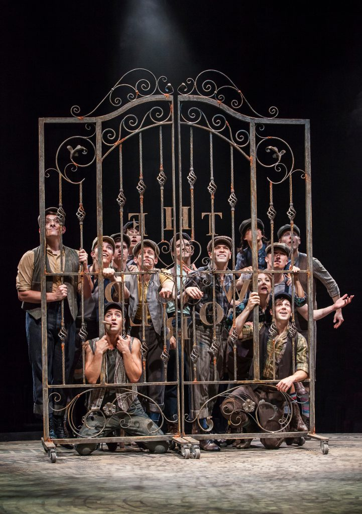 Company of DISNEY'S NEWSIES, produced by Broadway At Music Circus at the Wells Fargo Pavilion July 1