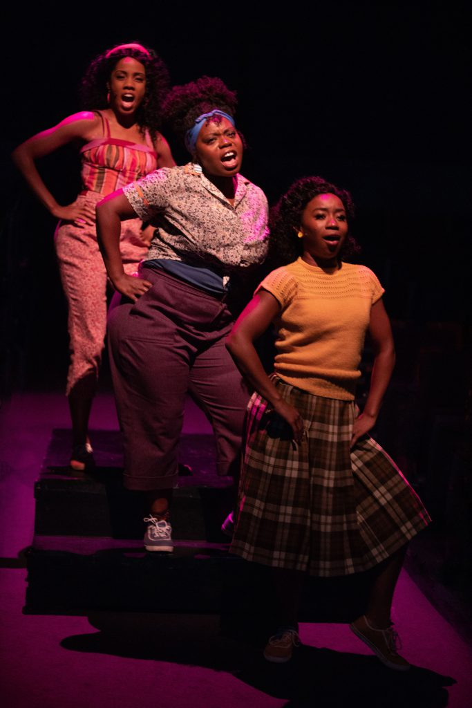 (left to right) Zuri Washington as Ronnette, Zonya Love as Crystal and Destinee Rea as Chiffon in LI