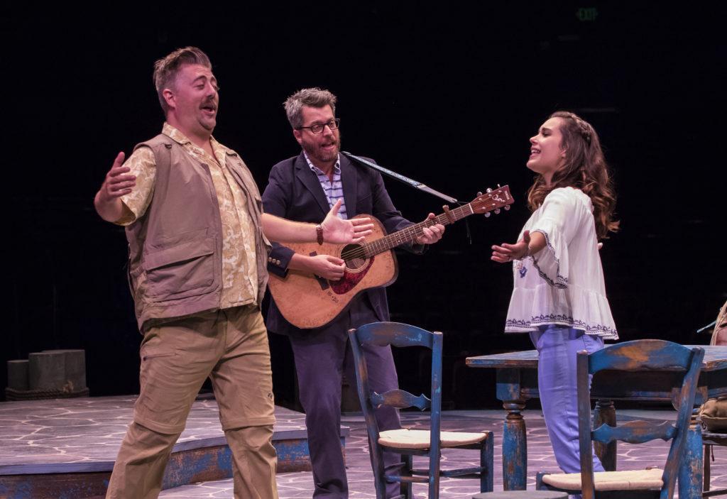 (from L to R) Eric Petersen as Bill Austin, Trey Ellett as Harry Bright and Francesca Arostegui as S