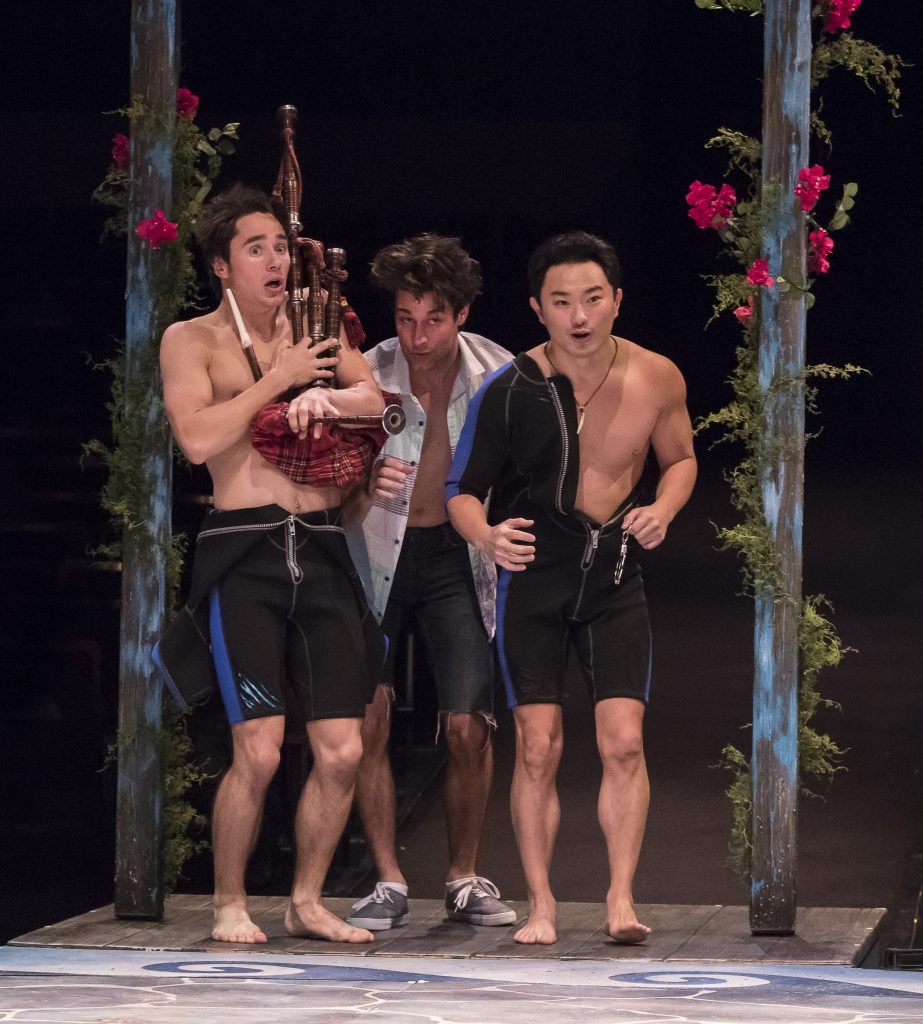 (from L to R) P. Tucker Worley as Eddie, Michael Campayno as Sky and Marcus Shane as Pepper in MAMMA