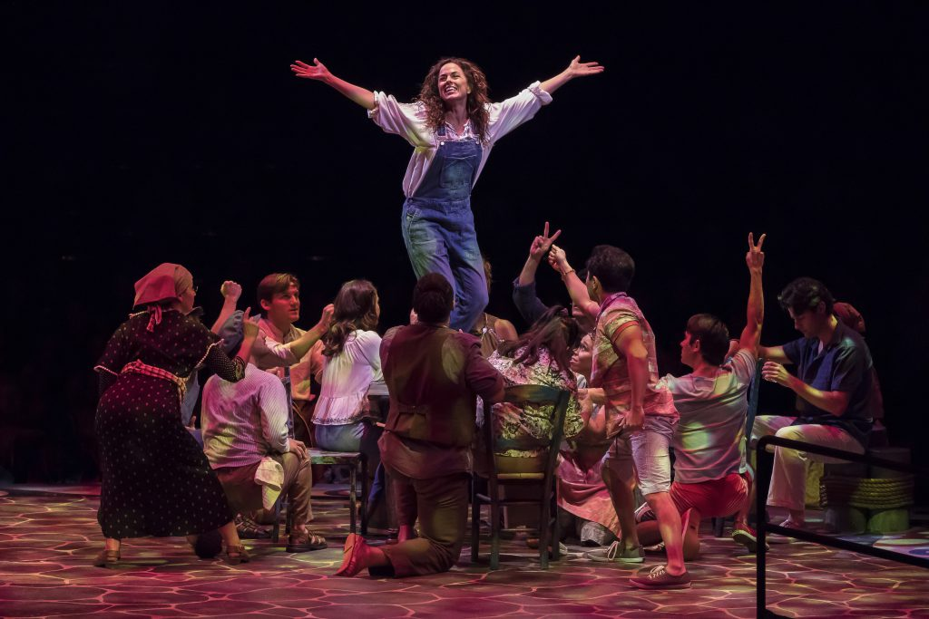 Michelle Dawson as Donna Sheridan with the Company of MAMMA MIA!, produced by Broadway At Music Circ