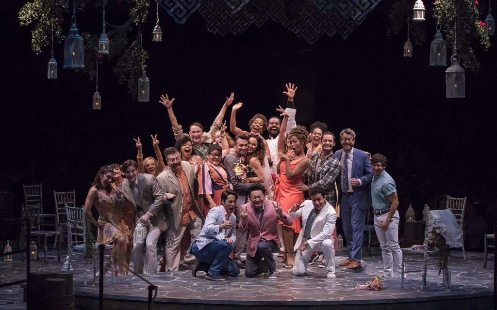 Company of MAMMA MIA!, produced by Broadway At Music Circus at the Wells Fargo Pavilion August 7-12.