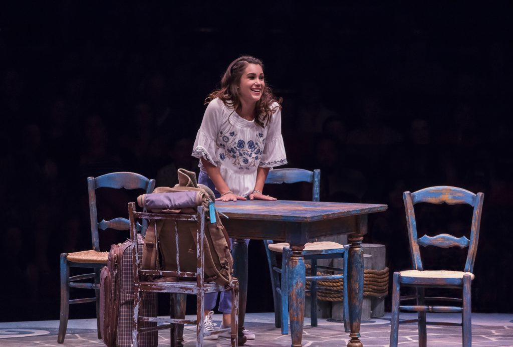 Francesca Arostegui as Sophie Sheridan in MAMMA MIA!, produced by Broadway At Music Circus at the We