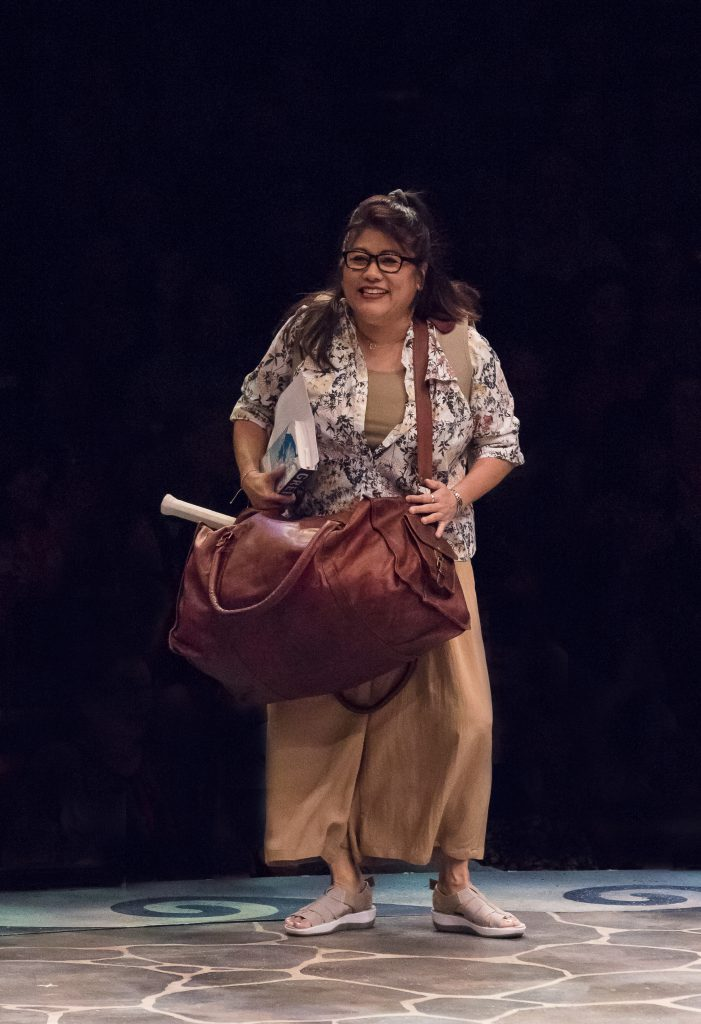 Jodi Kimura as Rosie in MAMMA MIA!, produced by Broadway At Music Circus at the Wells Fargo Pavilion