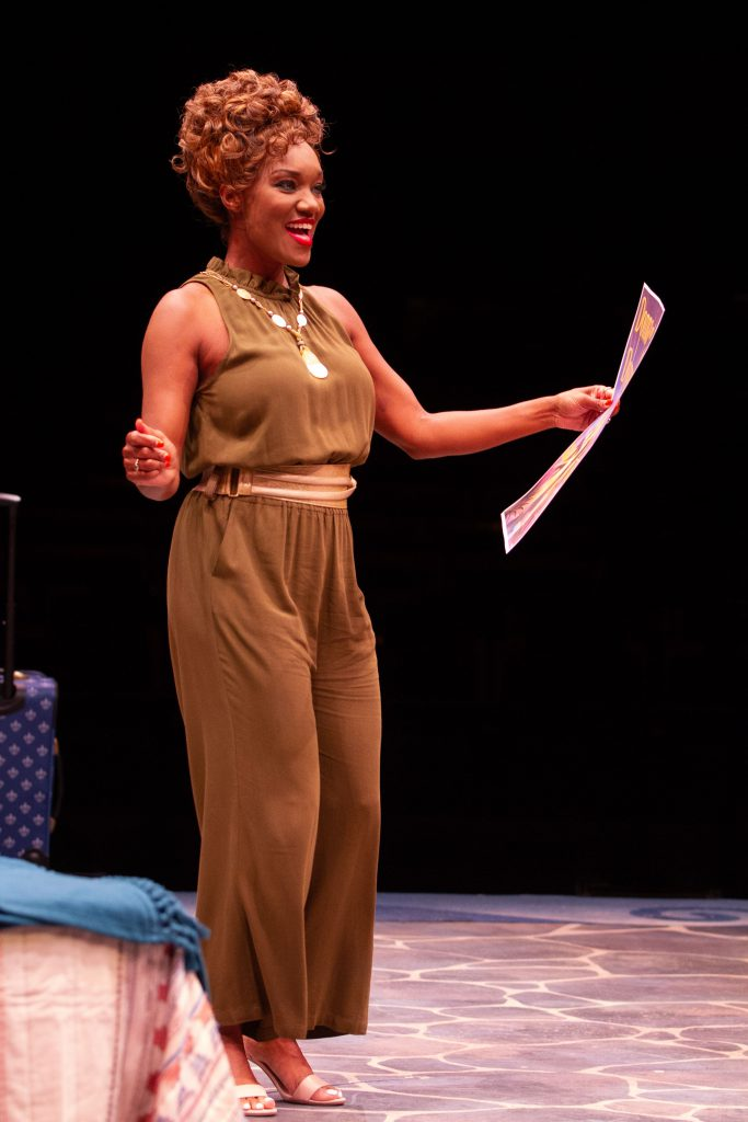 April Nixon as Tanya in MAMMA MIA!, produced by Broadway At Music Circus at the Wells Fargo Pavilion