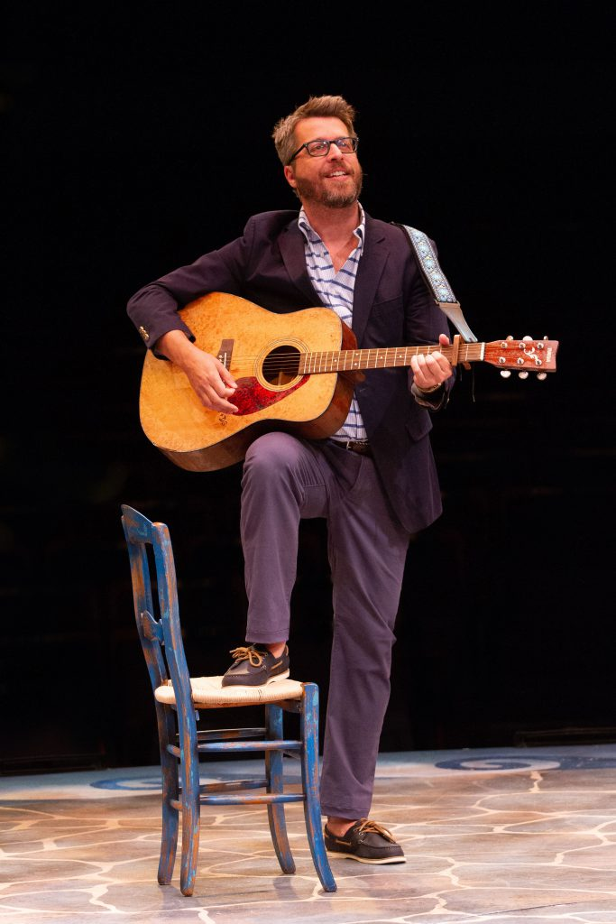Trey Ellett as Harry Bright in MAMMA MIA!, produced by Broadway At Music Circus at the Wells Fargo P