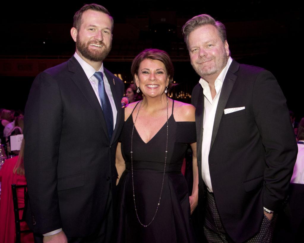 Sacramento City Councilman Steve Hanson, Donna Lucas and Randy Sater at the Broadway Sacramento Gala