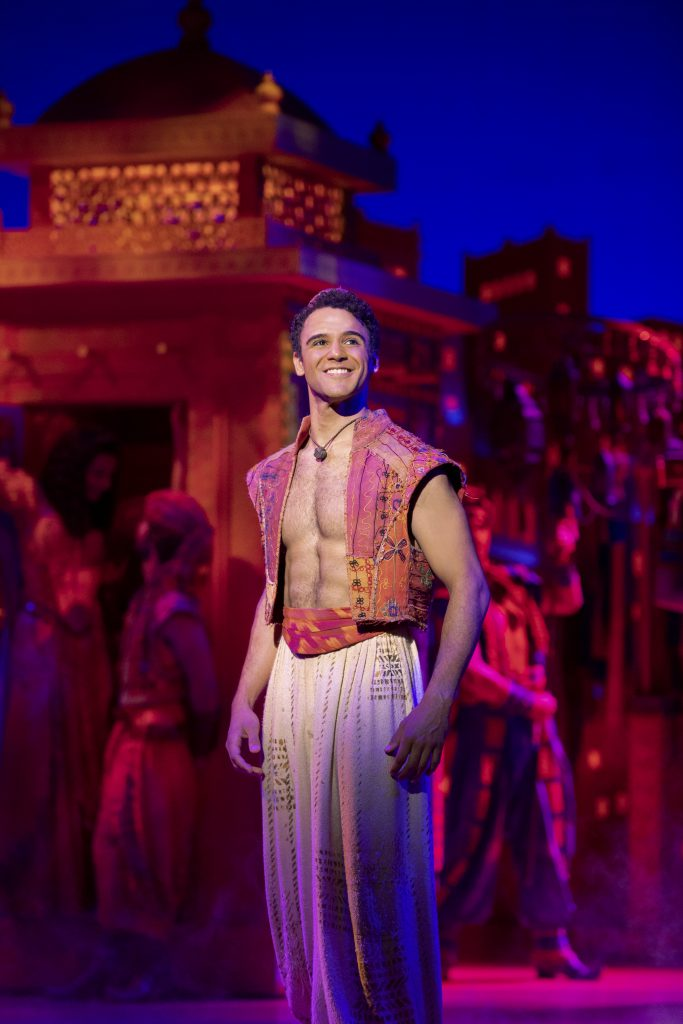 Clinton Greenspan as Aladdin in Disney's ALADDIN presented by Broadway On Tour at the Sacramento Community Center Theater May 15 – Jun. 2, 2019. ©Disney. Photo by Deen van Meer.