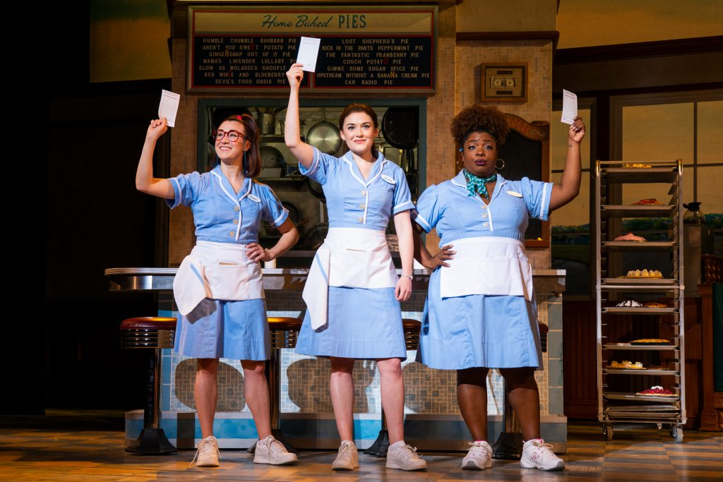 Jessie Shelton, Christine Dwyer and Maiesha McQueen in the Broadway On Tour presentation of WAITRESS at the Sacramento Community Center Theater Dec. 27, 2018 – Jan. 5, 2019. Photo by Philicia Endelman.