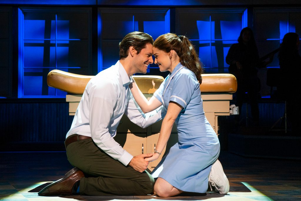 Steven Good and Christine Dwyer in the Broadway On Tour presentation of WAITRESS at the Sacramento Community Center Theater Dec. 27, 2018 – Jan. 5, 2019. Photo by Philicia Endelman.