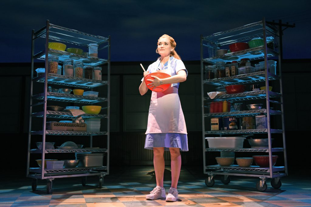 Christine Dwyer as Jenna in the Broadway On Tour presentation of WAITRESS at the Sacramento Community Center Theater Dec. 27, 2018 – Jan. 5, 2019. Photo by Tim Trumble.