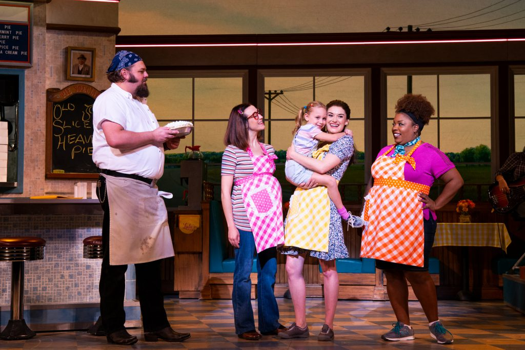 The company of WAITRESS presented by Broadway On Tour at the Sacramento Community Center Theater Dec. 27, 2018 – Jan. 5, 2019. Photo by Philicia Endelman.