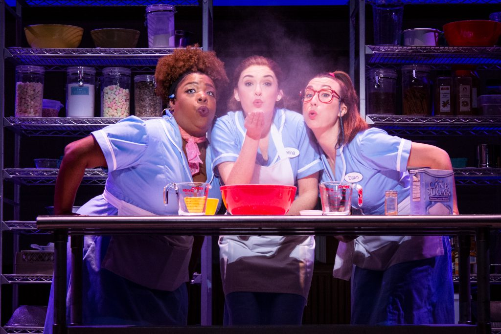 Maiesha McQueen, Christine Dwyer and Jessie Shelton in the Broadway On Tour presentation of WAITRESS at the Sacramento Community Center Theater Dec. 27, 2018 – Jan. 5, 2019. Photo by Philicia Endelman.