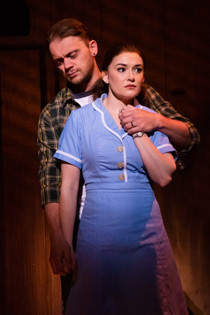 Matt DeAngelis and Christine Dwyer in the Broadway On Tour presentation of WAITRESS at the Sacramento Community Center Theater Dec. 27, 2018 – Jan. 5, 2019. Photo by Philicia Endelman.
