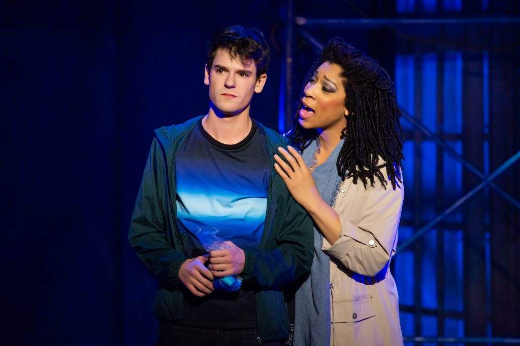 Chris McCarrell and Jalynn Steele in THE LIGHTNING THIEF: THE PERCY JACKSON MUSICAL presented by Broadway On Tour at the Sacramento Community Center Theater Apr. 19-21, 2019. Photo by Jeremy Daniel.