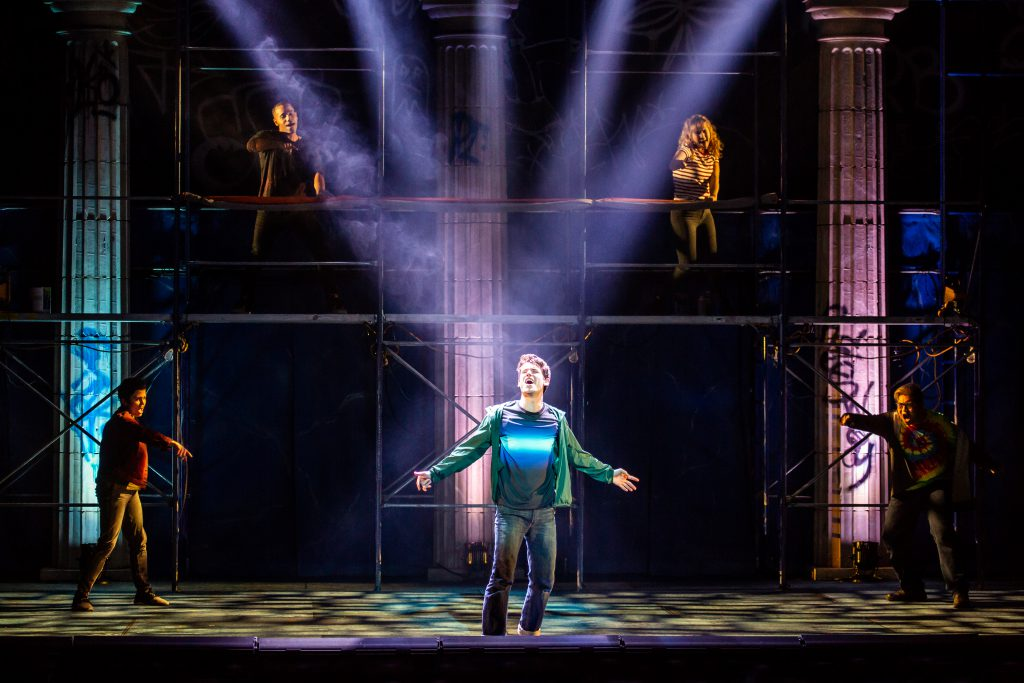 Company of THE LIGHTNING THIEF: THE PERCY JACKSON MUSICAL presented by Broadway On Tour at the Sacramento Community Center Theater Apr. 19-21, 2019. Photo by Jeremy Daniel.