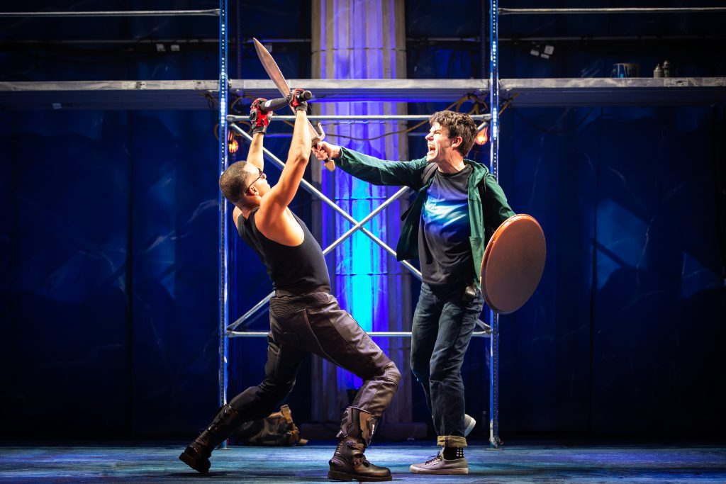 James Hayden Rodriguez and Chris McCarrell in THE LIGHTNING THIEF: THE PERCY JACKSON MUSICAL presented by Broadway On Tour at the Sacramento Community Center Theater Apr. 19-21, 2019. Photo by Jeremy Daniel.
