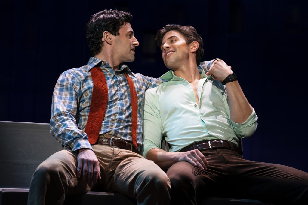 Max von Essen and Nick Adams in FALSETTOS presented by Broadway On Tour March 12-17, 2019 at the Sacramento Community Center Theater. Photo by Joan Marcus.